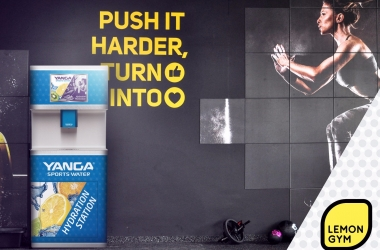 Yanga sports water jau visuose Lemon Gym klubuose!